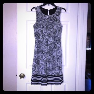 Maurice's Black/Grey Printed Women's Dress.